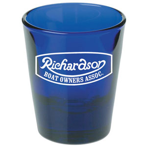 SHOT GLASS - COBALT, 1.5 OZ