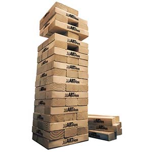 GIANT JENGA TOPPLE TOWER