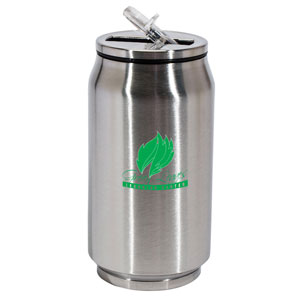 STAINLESS STEEL CAN-ISTER, 12 OZ